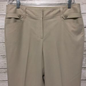 Dress Barn Tan Work Career Pants Side Pockets